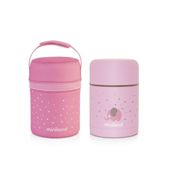 silky food thermos rosa
